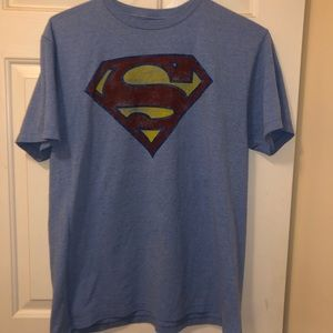 Superman tee men's large